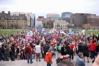 Marche du FSP rendue devant le parlement fédéral